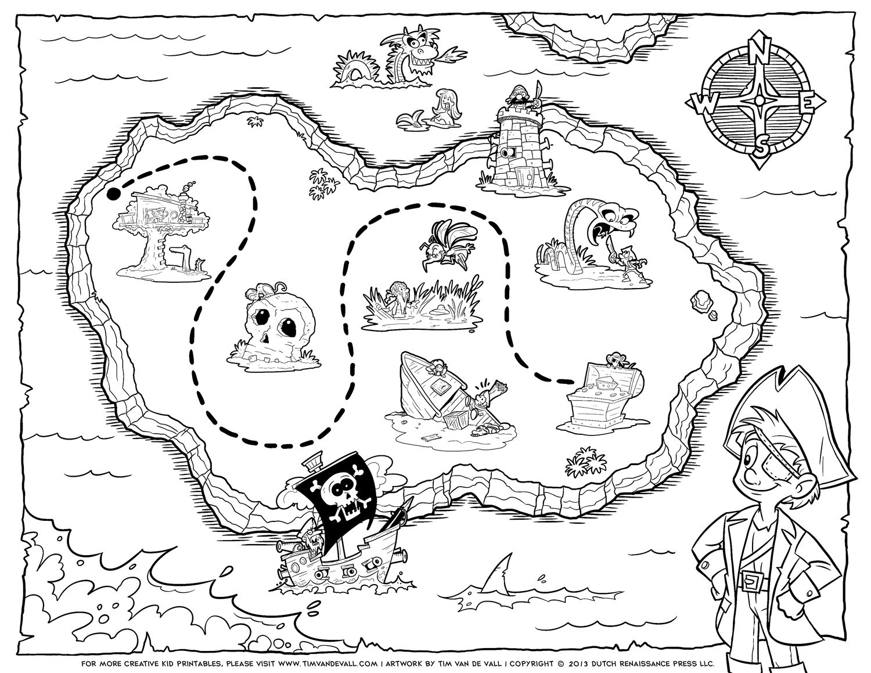 Pirate Treasure Map Template Free