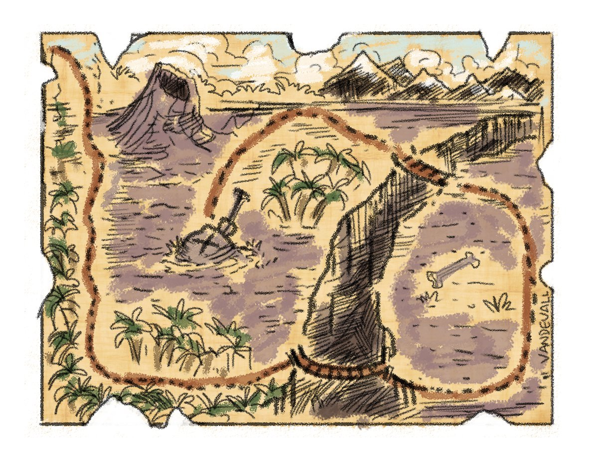 Pirate Treasure Map Templates