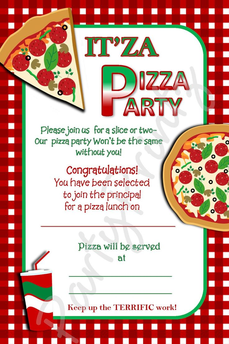 Pizza Party Flyer Template Download