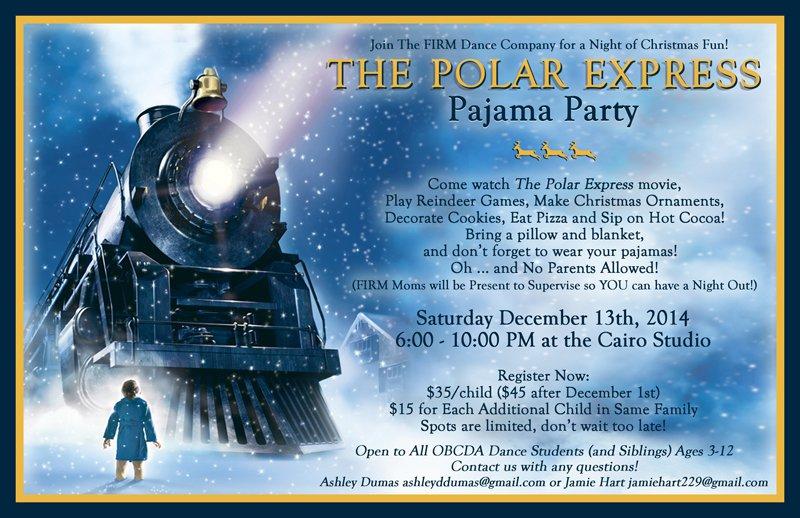 Polar Express Pajama Party Invitation
