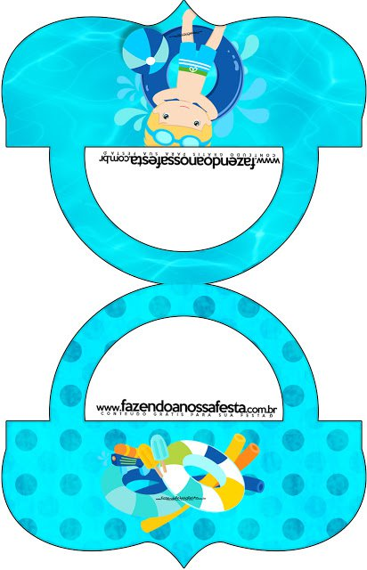 Pool Party Free Printable Labels