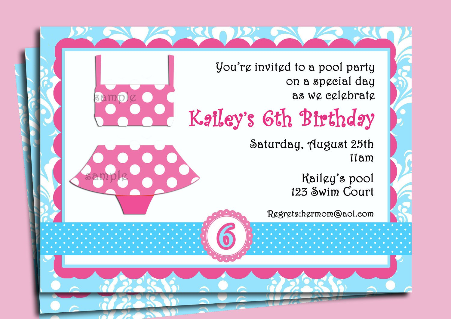 swim party invitation templates - Jcmanagement.co