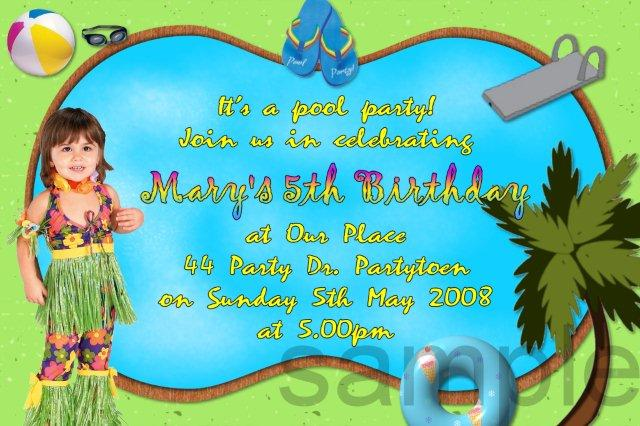 Pool Party Invitation Wording For Adults