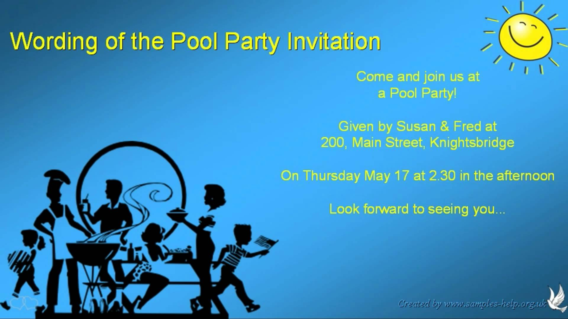 Pool Party Invitation Wording Ideas