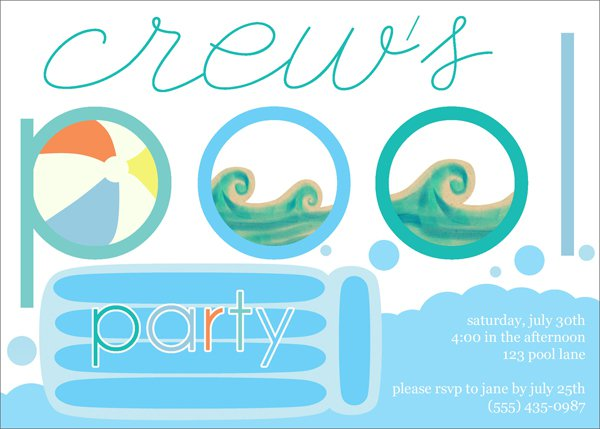Pool Party Invitations Printable Dinosaur