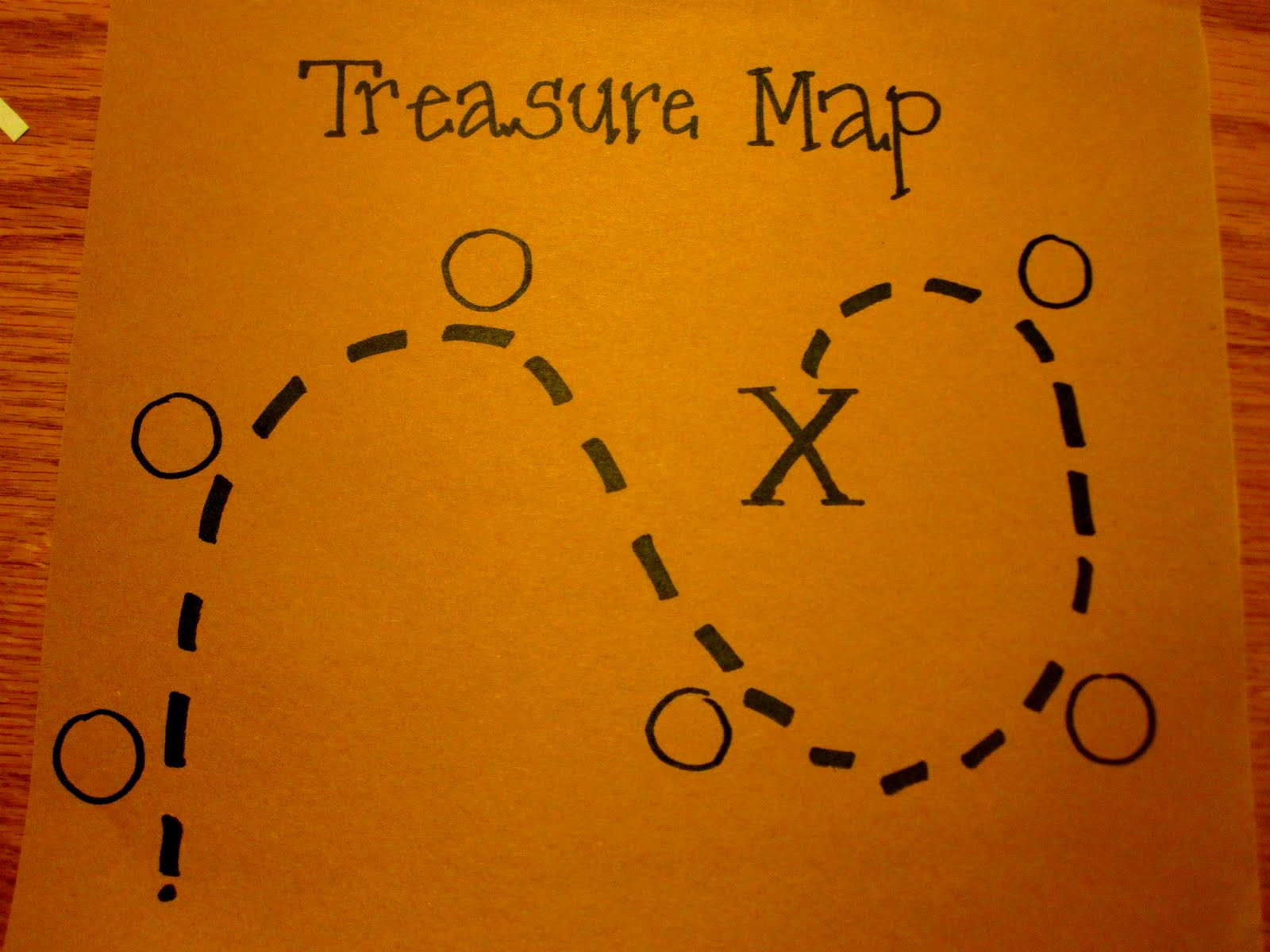 Preschool Printable Treasure Map