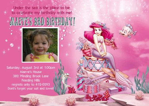 Princess Ariel Invitations