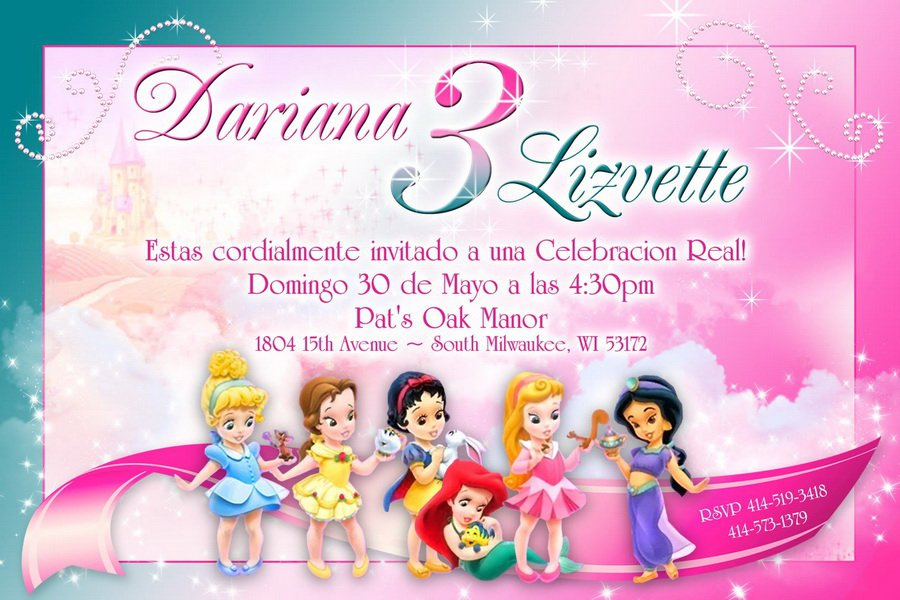 Princess Invitation Templates