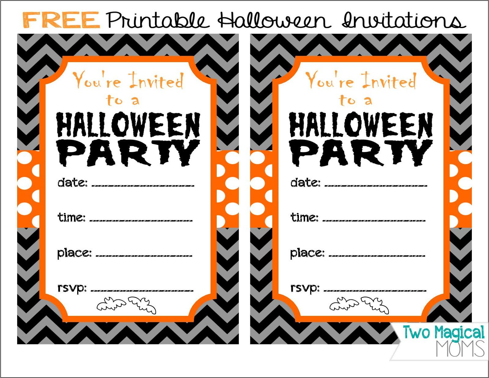 Print Out Halloween Invitation