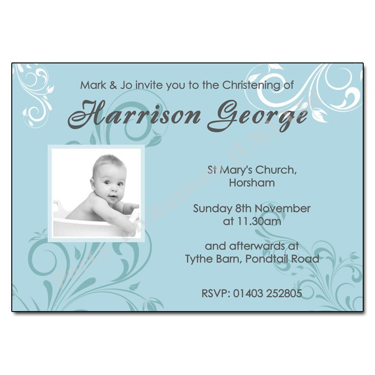 Print Your Own Baptism Invitations