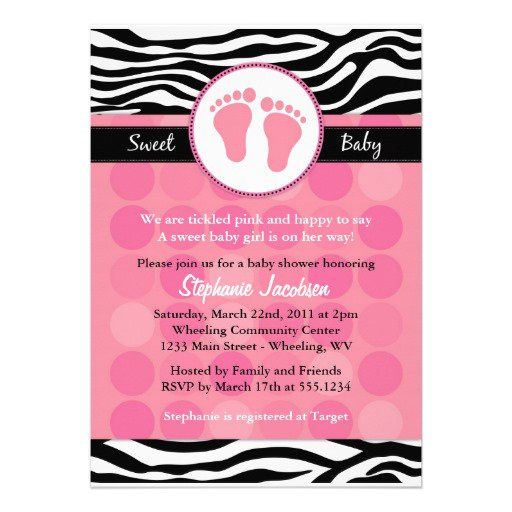 Printable Baby Shower Invitations Zebra Print