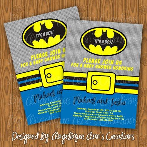 Printable Batman Baby Shower Invitations