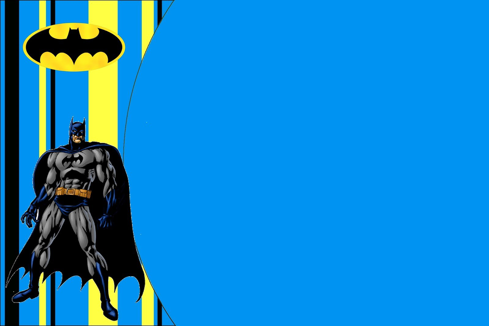 Printable Batman Invitations