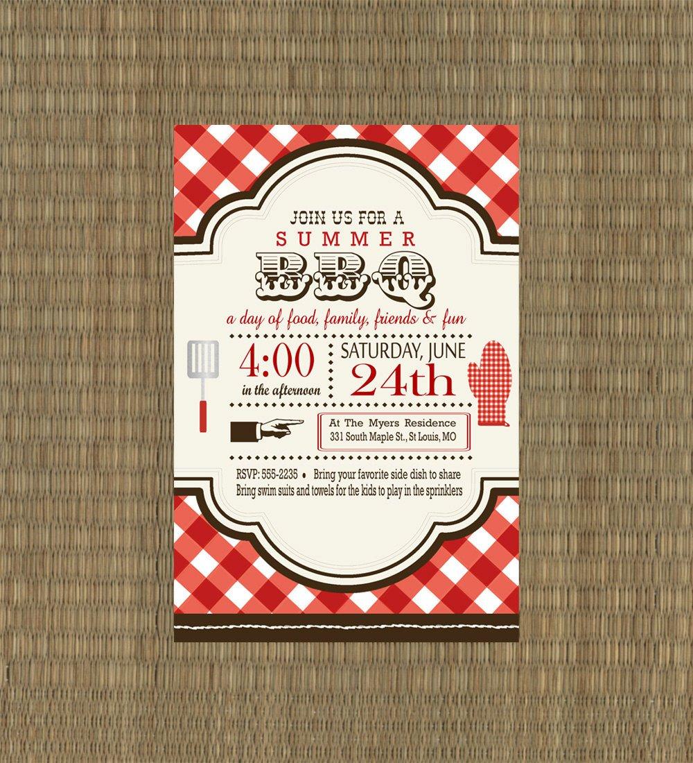 Printable Bbq Invitation Templates
