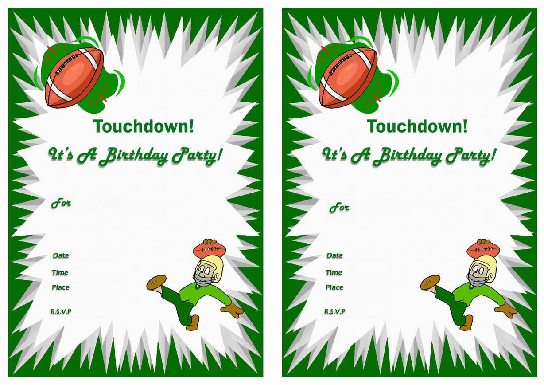 Printable Birthday Invitations Football Theme