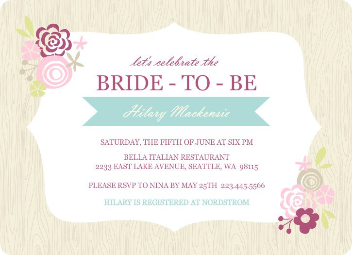 Free Wedding Shower Invitations: Printable Bridal Shower Invitations Templates