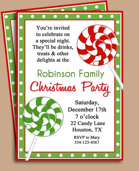 Printable Christmas Invitation Wording