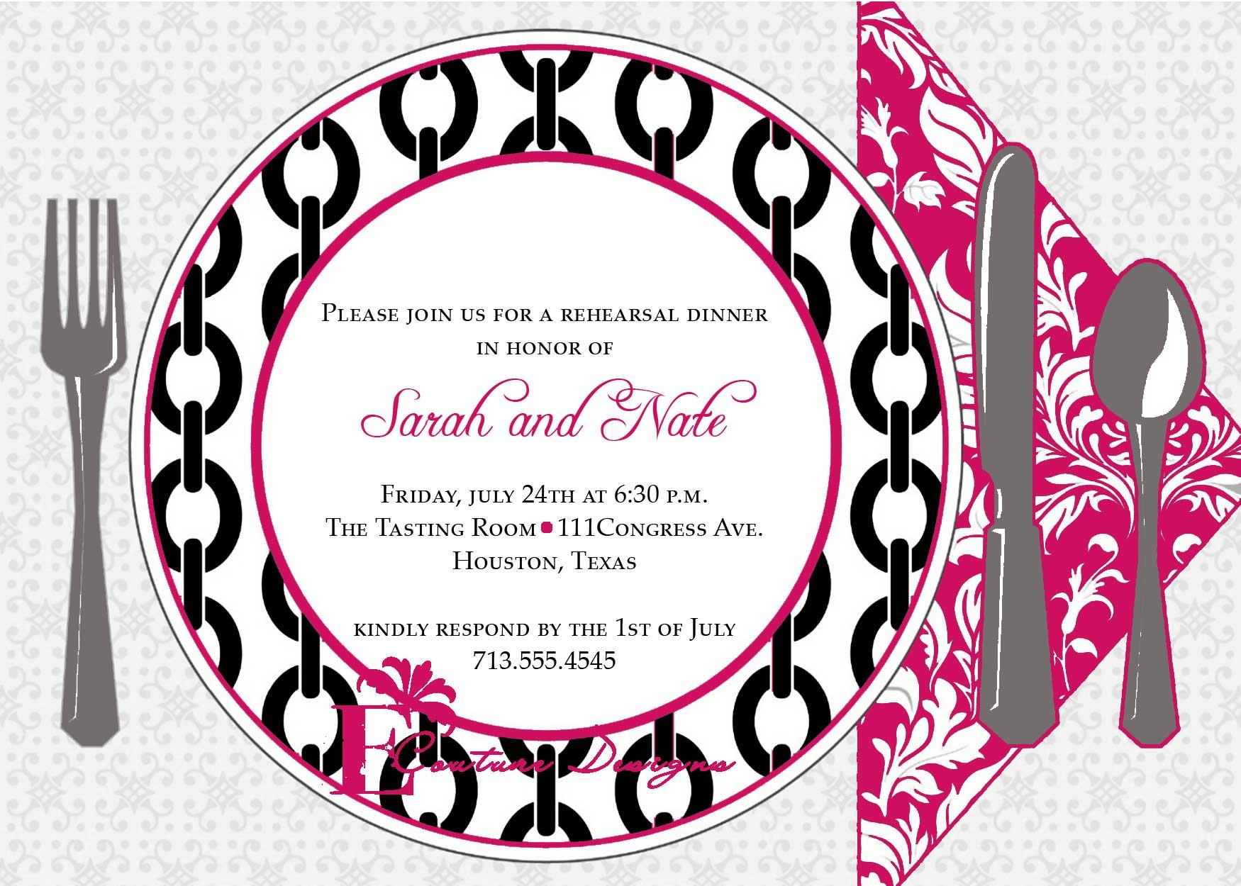 Printable Dinner Invitations Templates