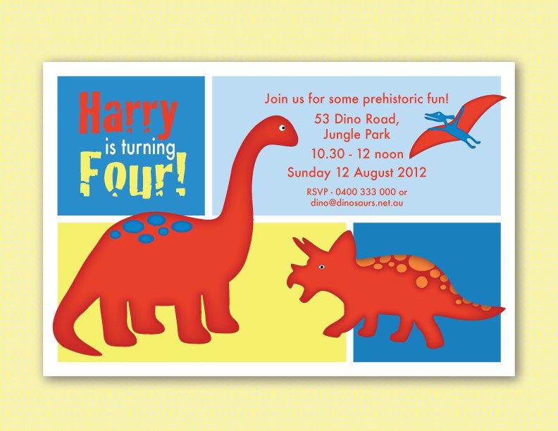 Printable Dinosaur Party Invitations Free