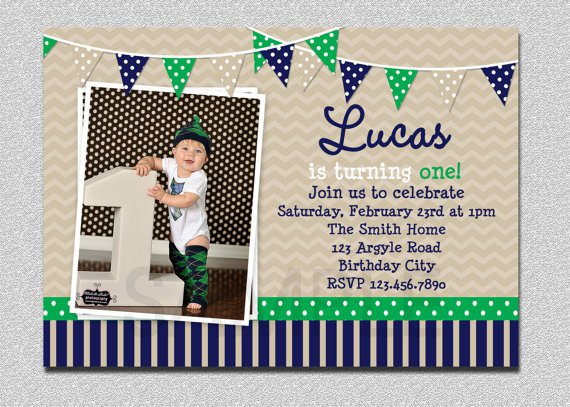 Printable First Birthday Invitations Boy