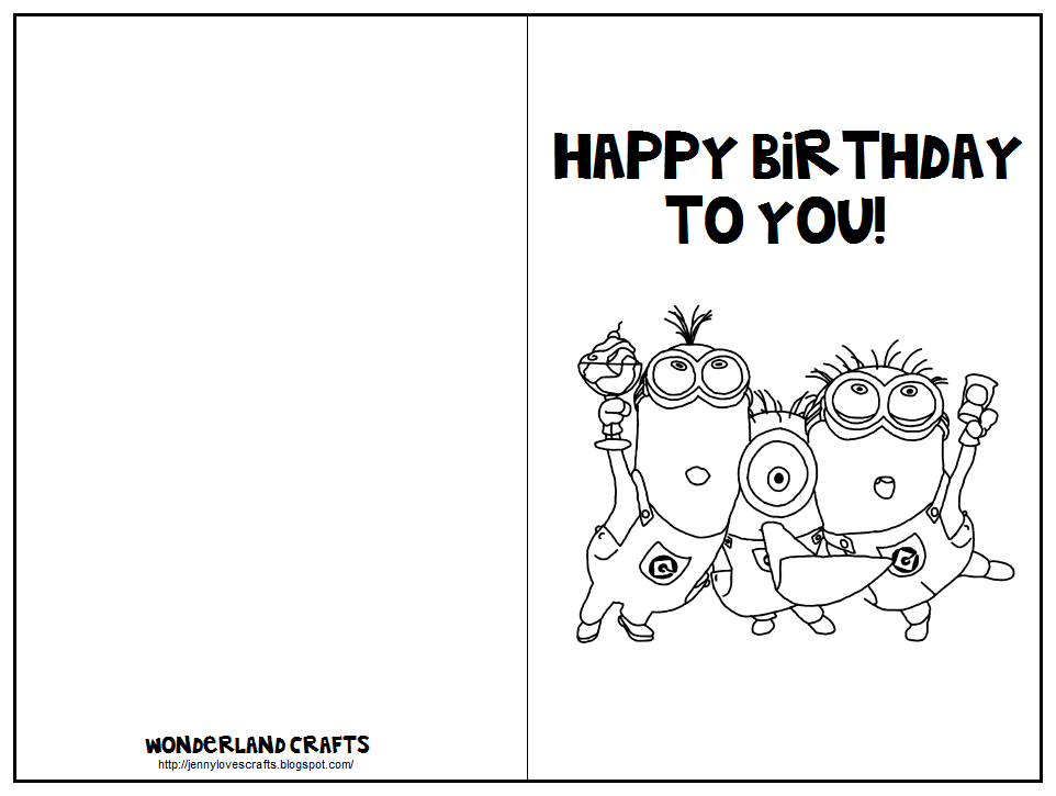 Printable Foldable Birthday Cards Zrom