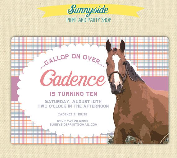 Printable Horse Invitations For Girls