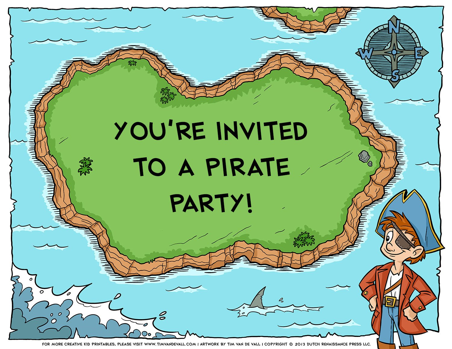 Printable Maps For Party Invitations