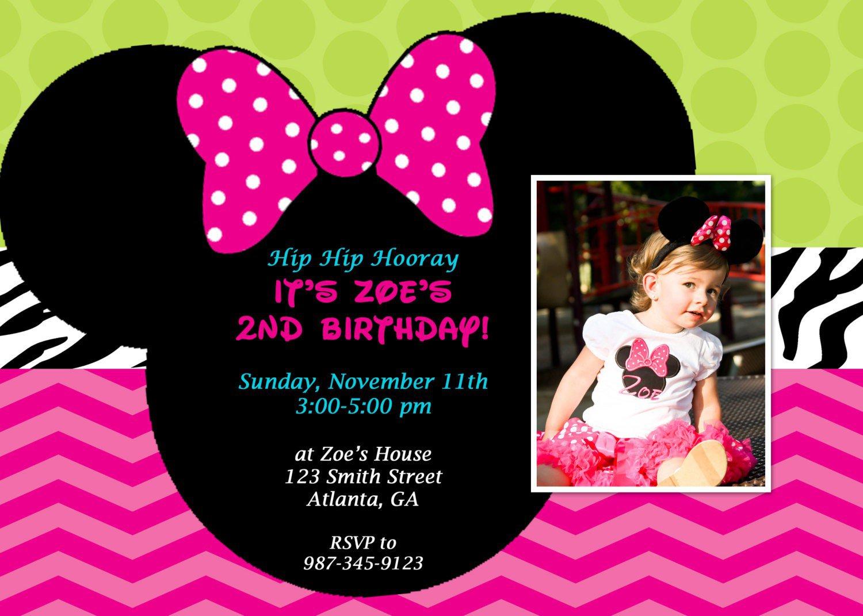 Printable Minnie Mouse Birthday Invitations Free