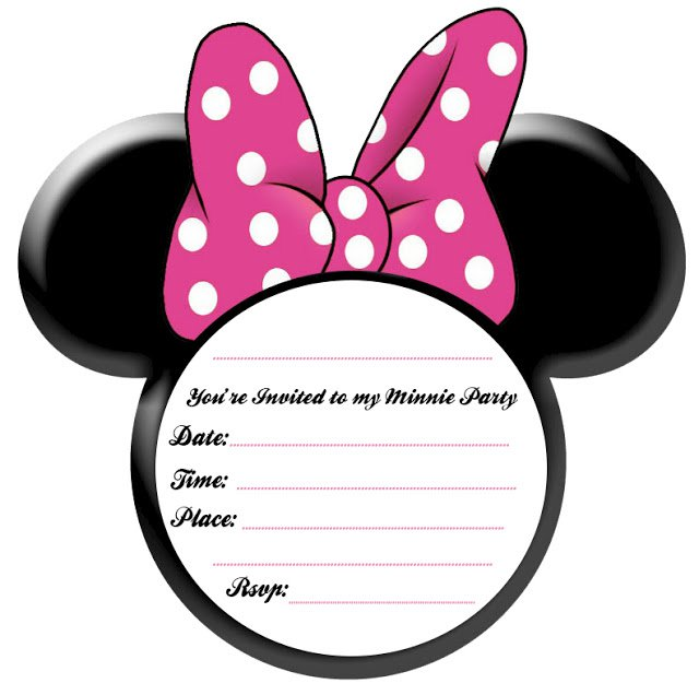 Printable Minnie Mouse Invitations Free