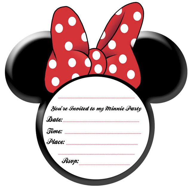 Printable Minnie Mouse Party Invitations