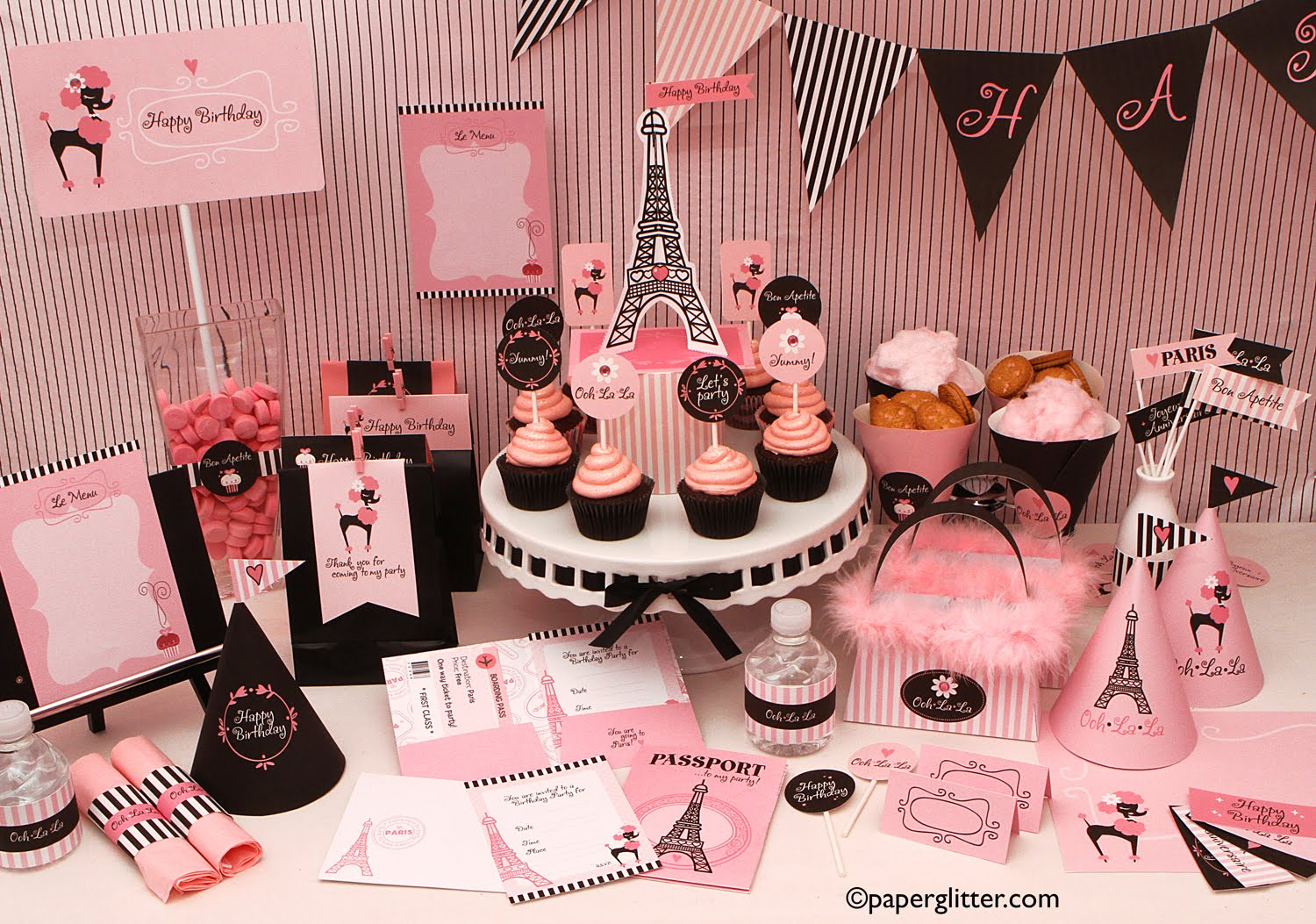 Printable Party Decorations For Girls