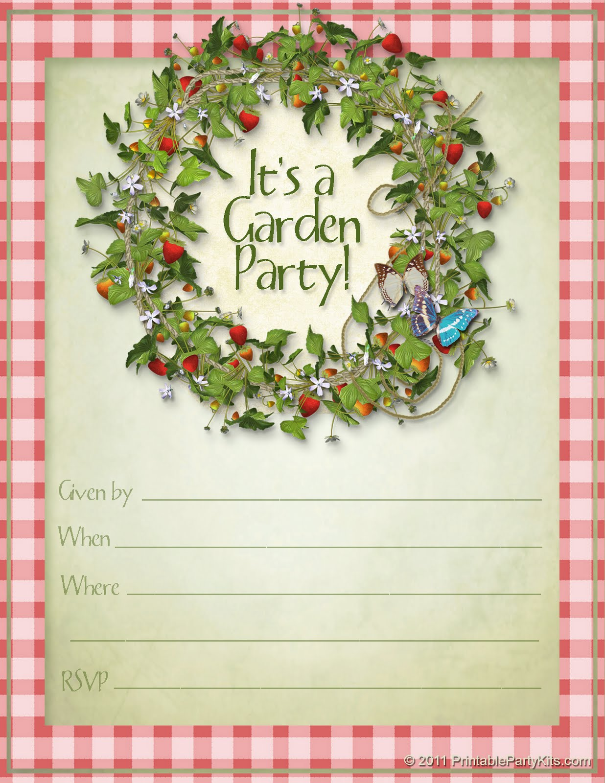 Printable Party Invitation Templates Uk