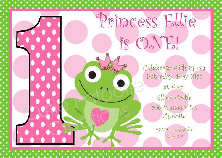 Printable Princess And The Frog Birthday Invitations
