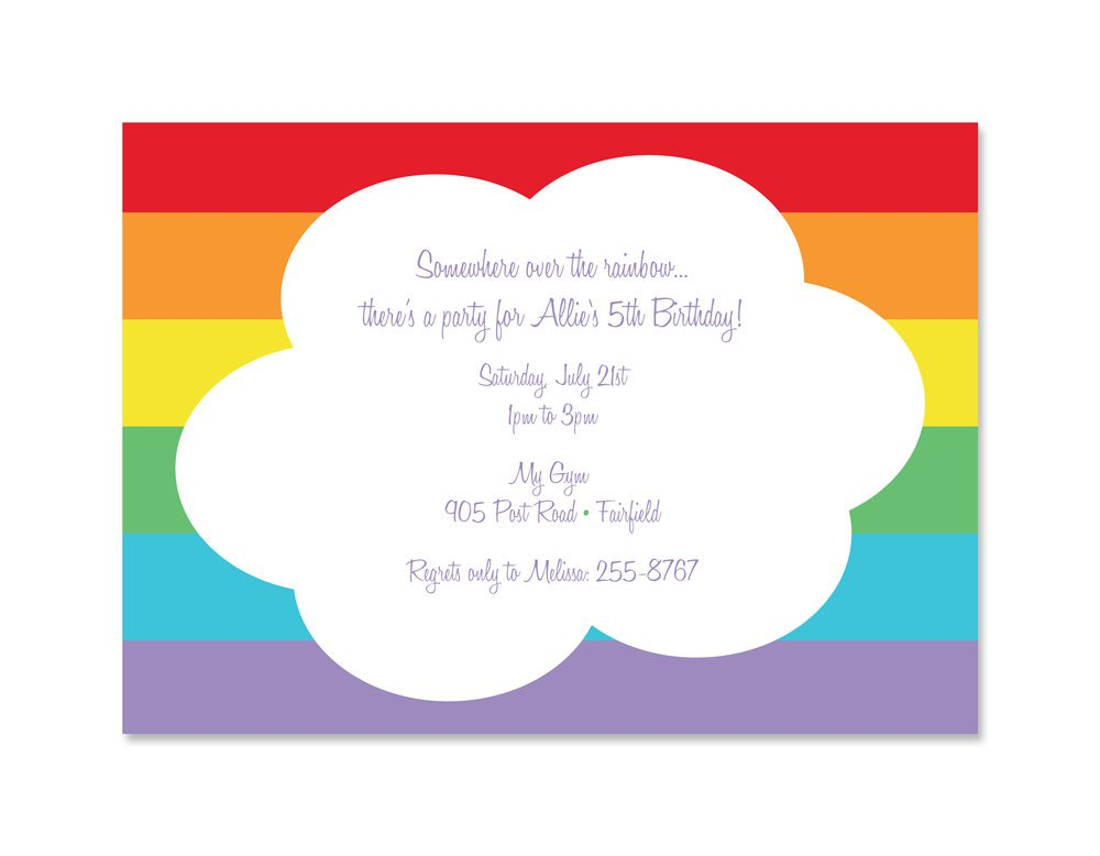 Printable Rainbow Invitations For Birthdays