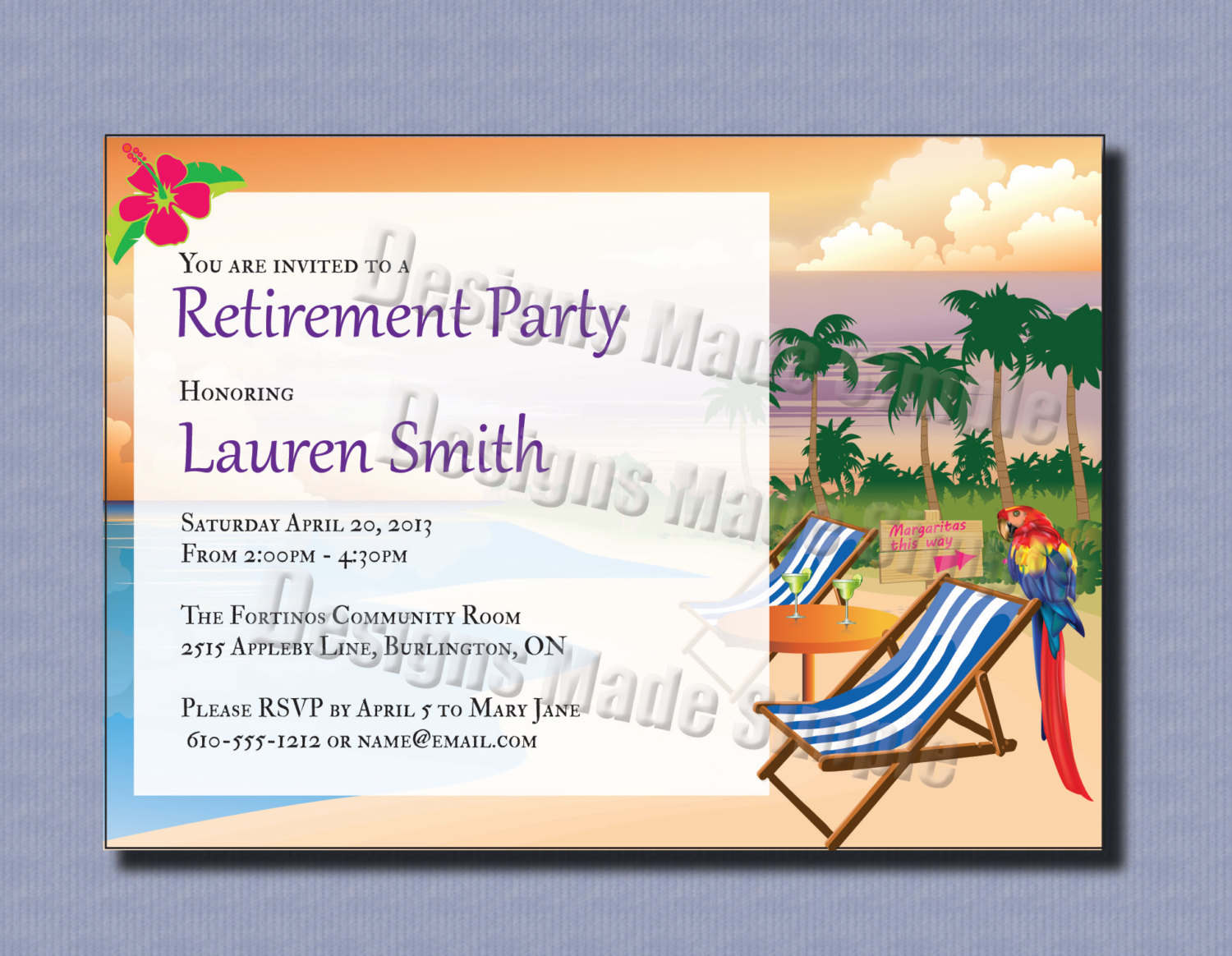 Printable Retirement Invitations Cards