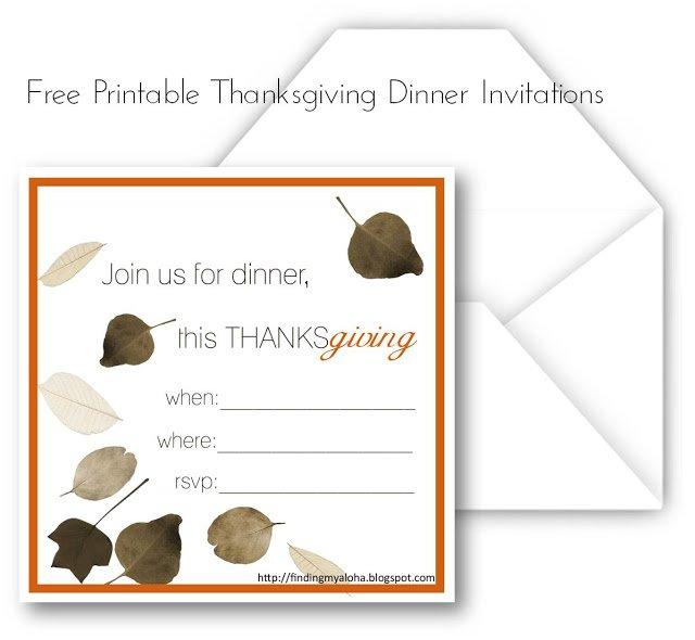Printable Thanksgiving Invitation Templates