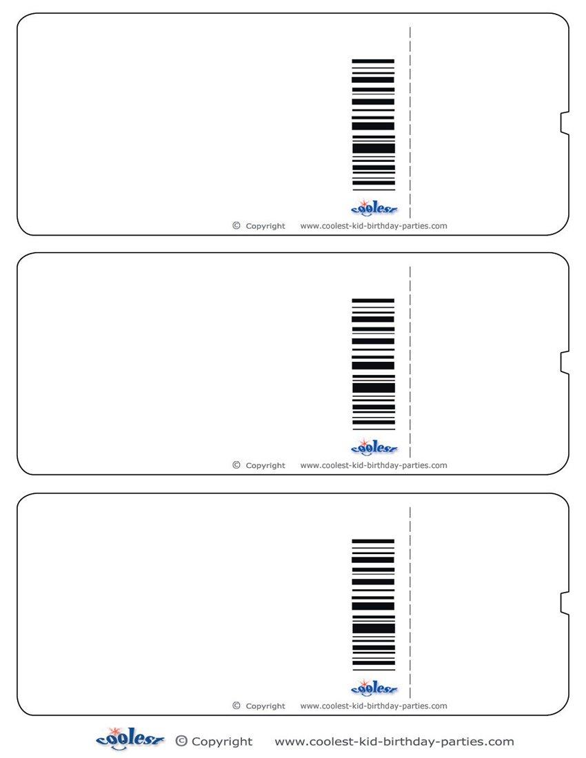 Printable Ticket Invitations