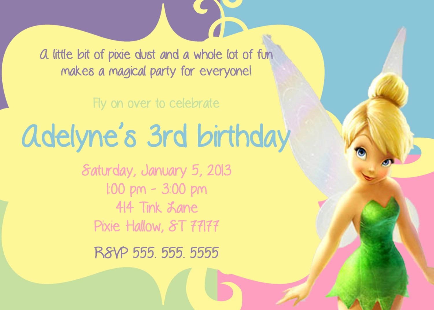 Printable Tinkerbell Invitations