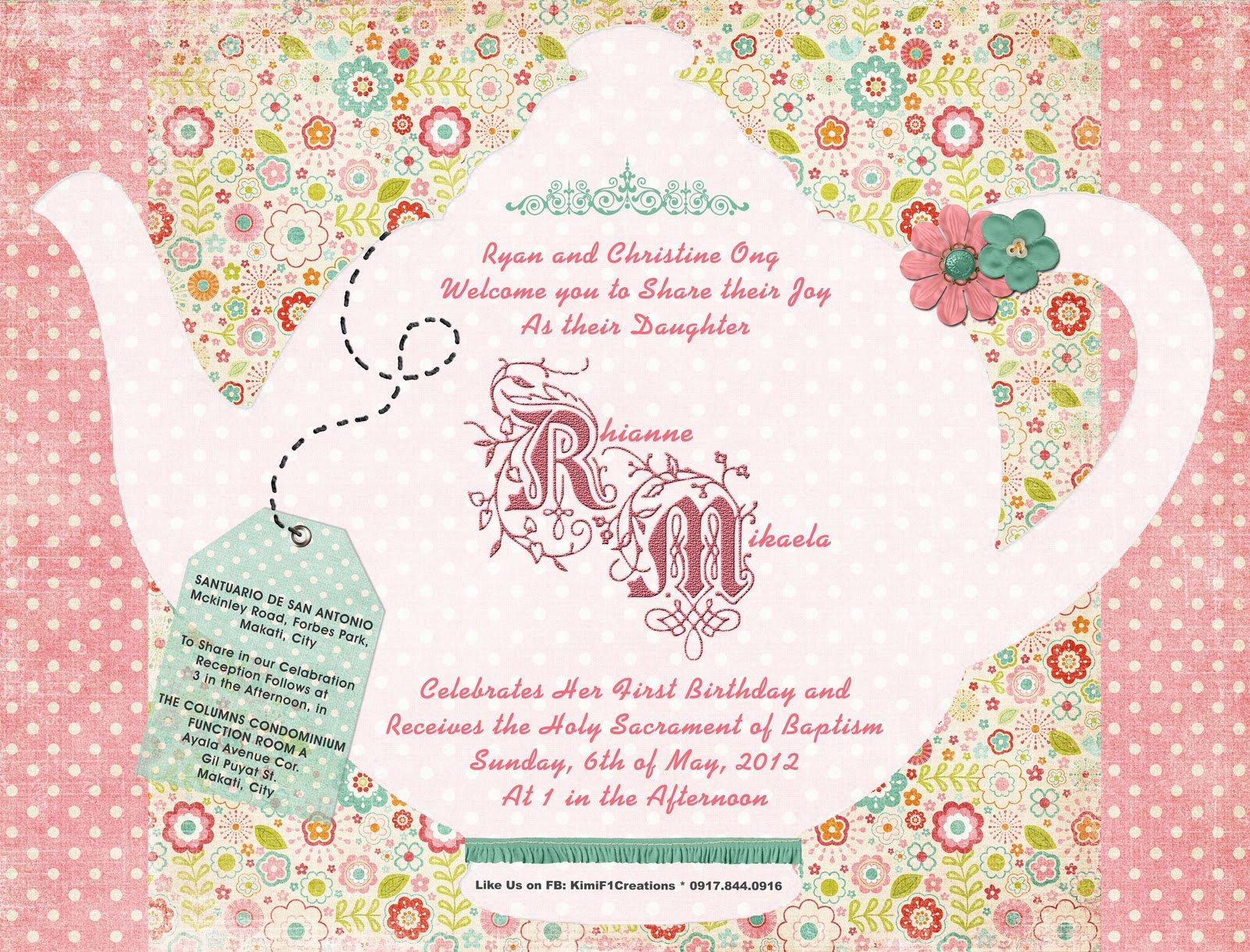 Printable Vintage Tea Party Invitations