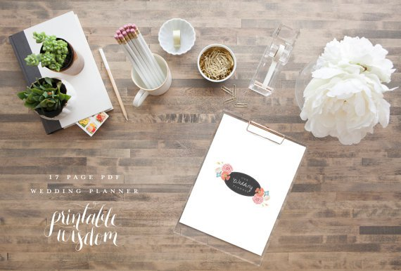 Printable Wedding Planning Organizer