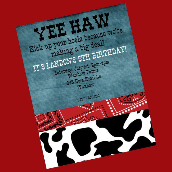 Printable Western Birthday Party Invitations