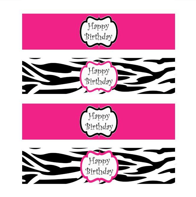 Printable Zebra Print Labels
