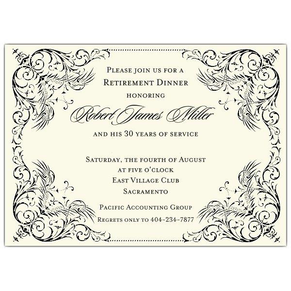 Retirement Borders Invitations