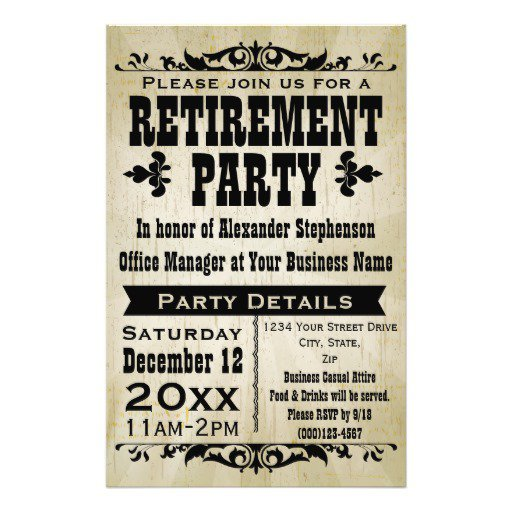 Retirement Invitation Flyer Templates