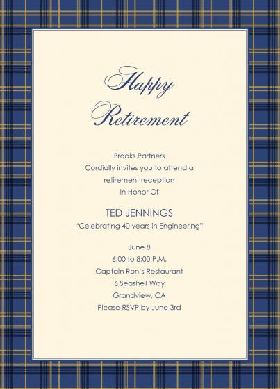 Retirement Party Invitation Wording Free