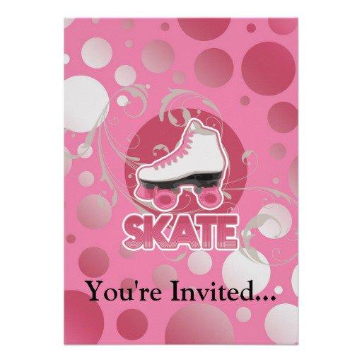 Roller Skate Invitations E