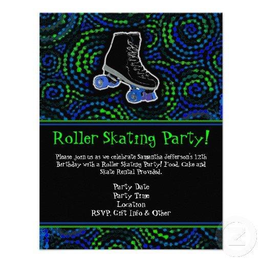 Rolling Skating Boy Invitations