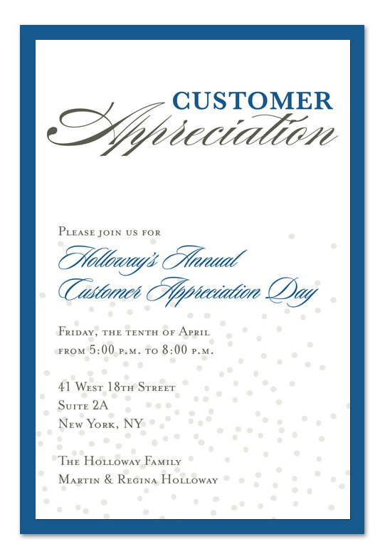 Sample Appreciation Luncheon Invitation