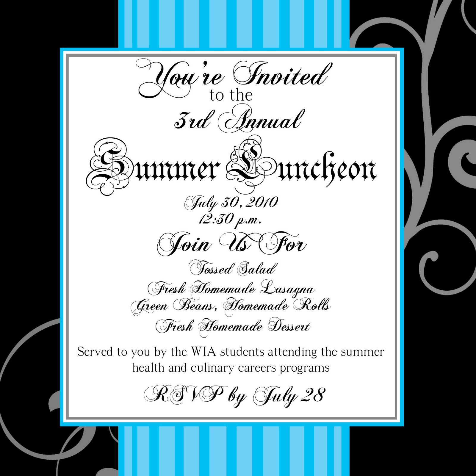 Sample Luncheon Invitations