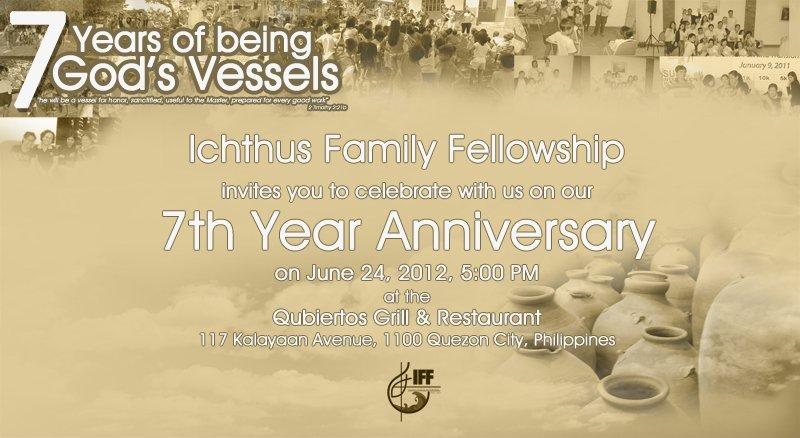 Sample Of Church Anniversary Invitation Card
